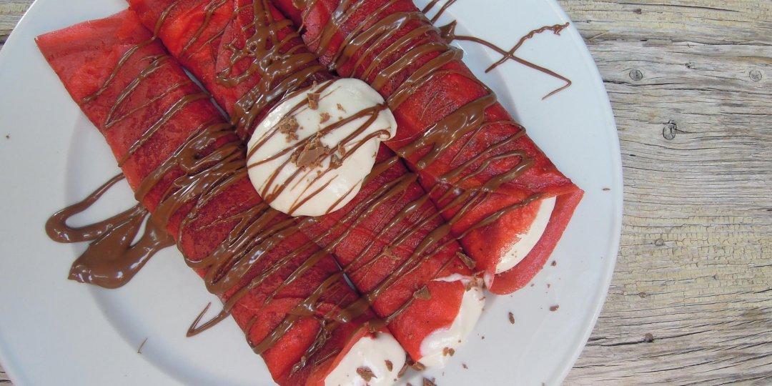 Λαχταριστές κρέπες red velvet - Images