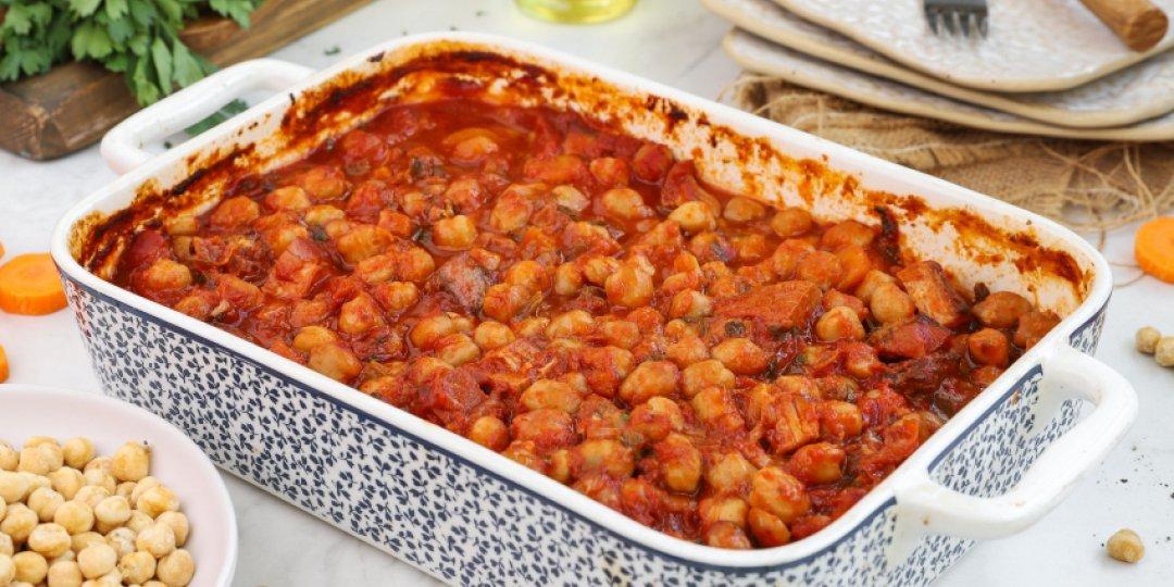 Ρεβίθια φούρνου με σύγκλινο και γραβιέρα - Images