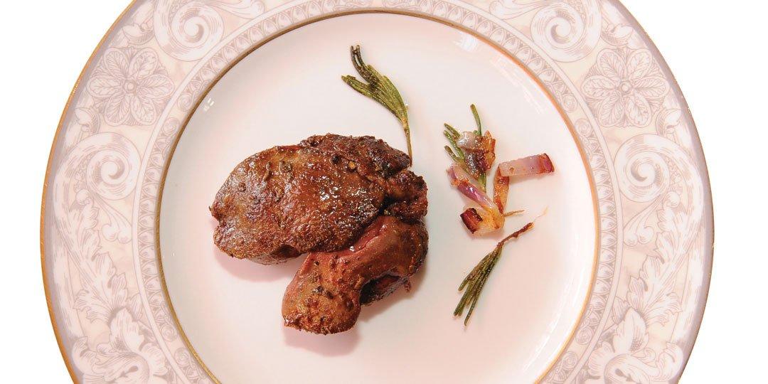 Συκωτάκια κοτόπουλου σοταρισμένα με brandy και βότανα  - Images