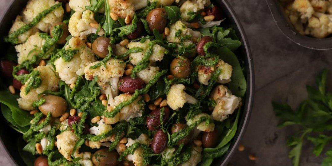 Η πιο νόστιμα υγιεινή σαλάτα με ψητό κουνουπίδι - Images