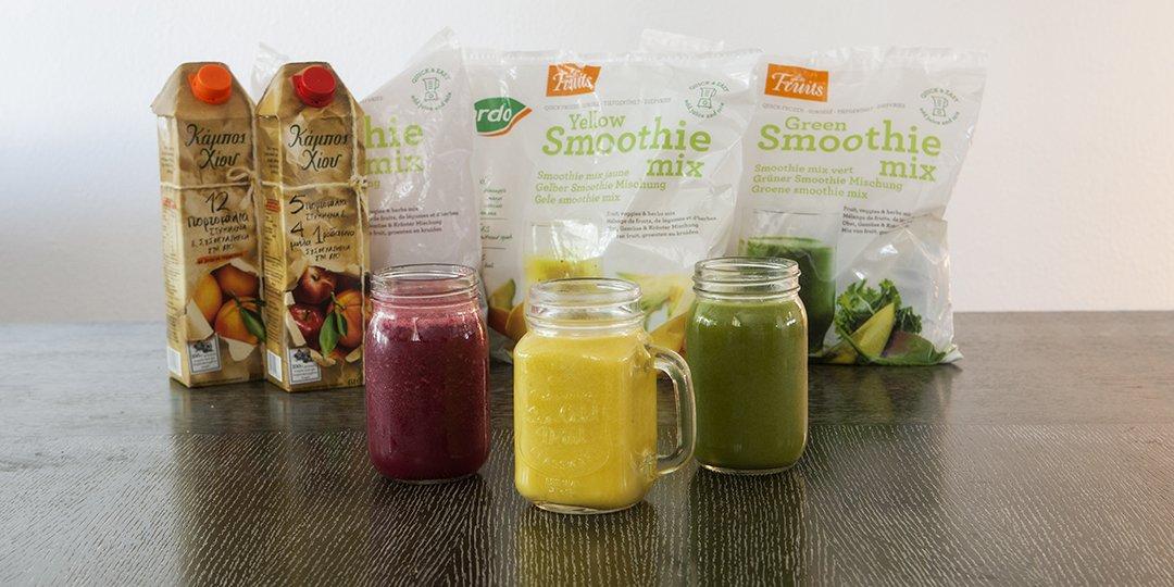 Smoothies 3 γεύσεων - Images