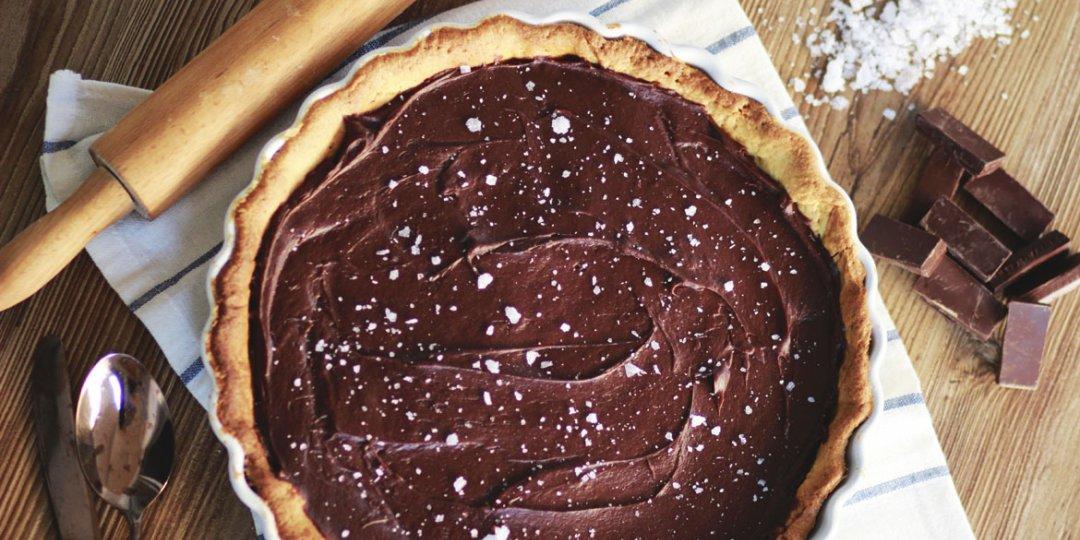 Τάρτα αλμυρής καραμέλας με σοκολάτα - Images