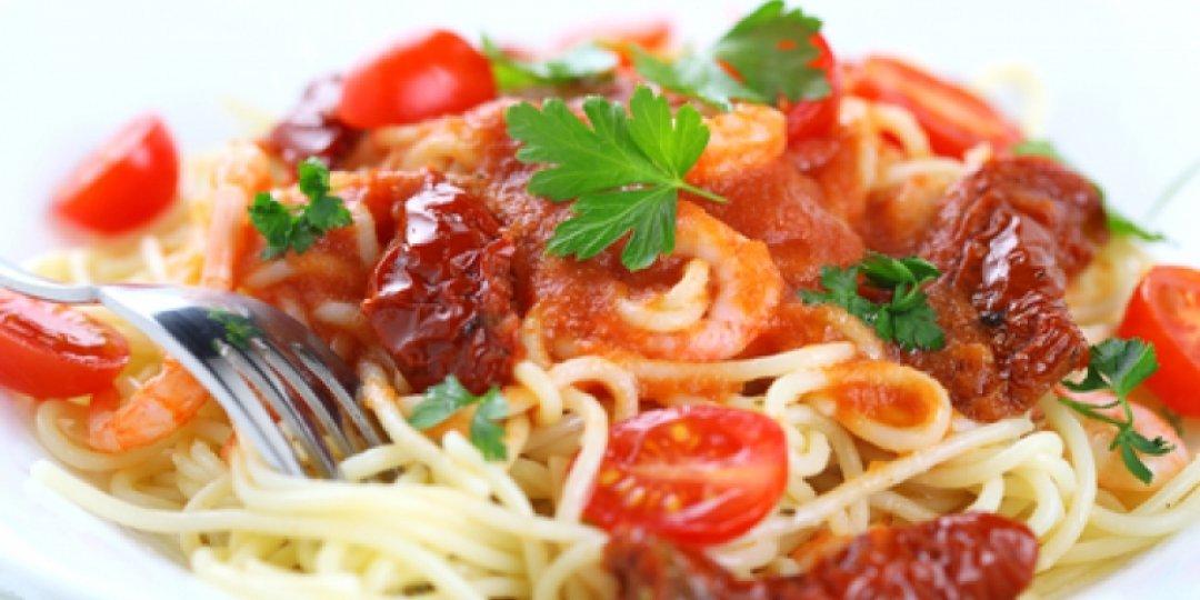 Μεσογειακή μακαρονάδα με λιαστές ντομάτες και κρασί - Images