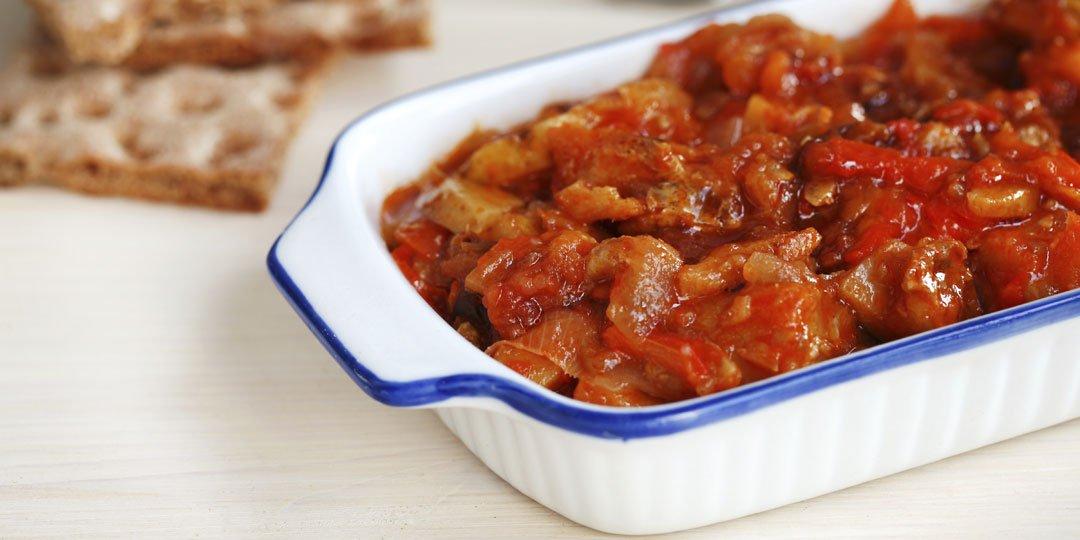 Μπακαλιάρος μαριναρισμένος με πάστα φρέσκια ντομάτας - Images