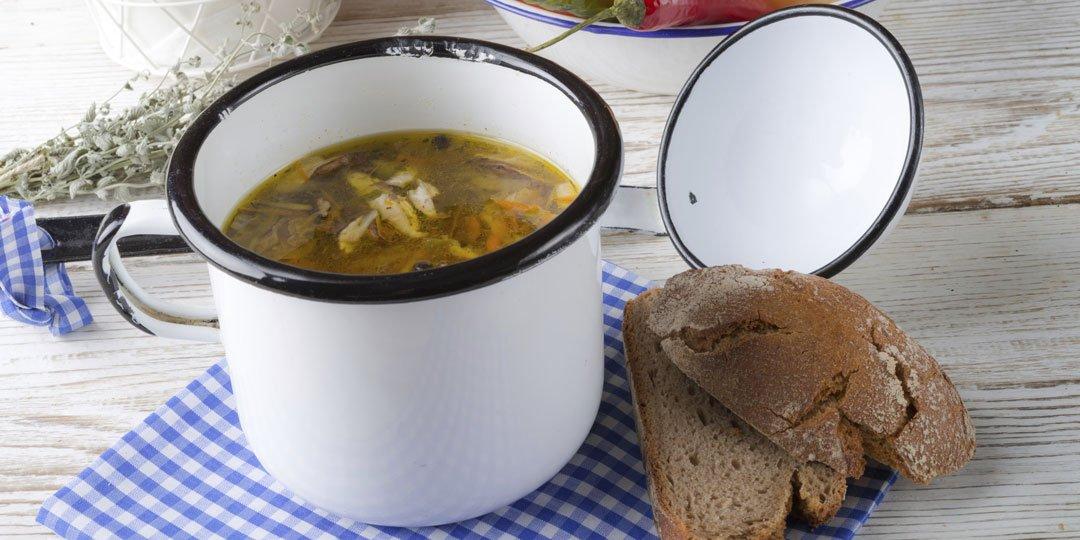 Χορτοφαγική σούπα με μανιτάρια  - Images