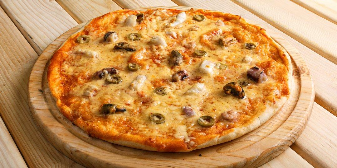 Πίτσα με γαρίδες και ελιές  - Images