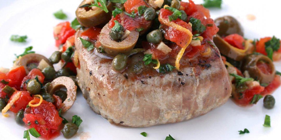 Τόνος στο φούρνο με λαχανικά - Images