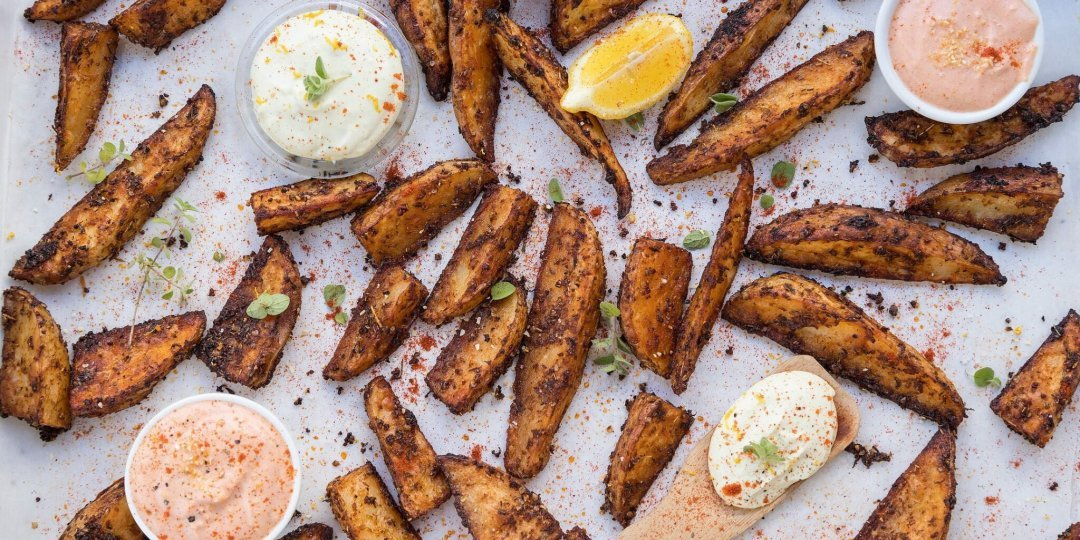 Τραγανές πατάτες φούρνου με μπαχαρικά - Images