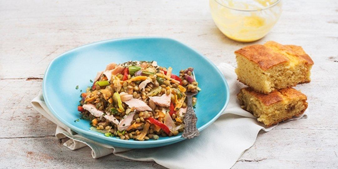 Σαλάτα με κοτόπουλο, κουσκούς και ρεβίθια - Images