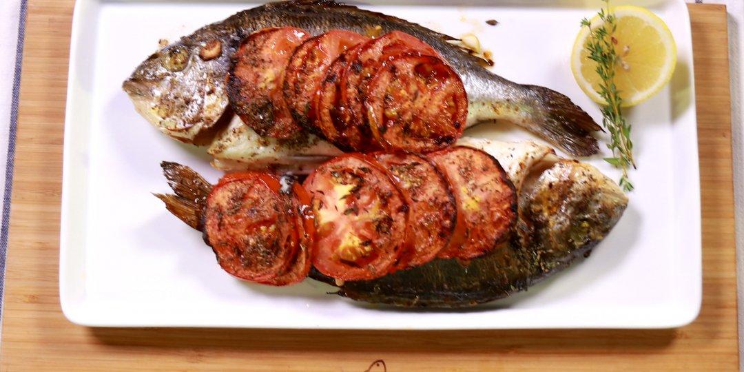 Τσιπούρα Blue Island με ντομάτα στο φούρνο - Images