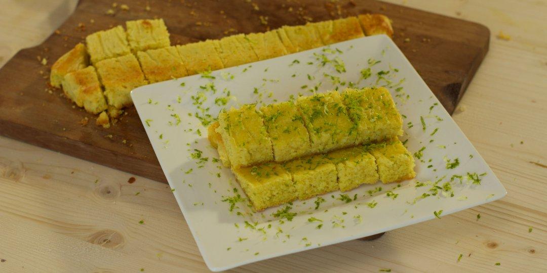 Ξηρό κέικ με λάιμ και καρύδα (Canderel) - Images