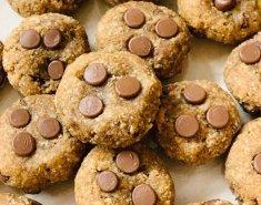 Μπισκότα (χωρίς αλεύρι) με βρώμη και φιστικοβούτυρο - Images