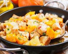 Κοτόπουλο με κολοκύθα και σκόρδο - Images
