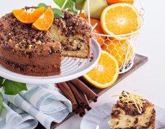 Κέικ με πορτοκάλι και δάκρυα σοκολάτας - Images