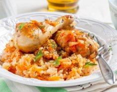 Μπούτια κοτόπουλου με πάπρικα και πιπεριές - Images