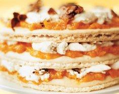 Γλυκό Ψυγείου με Μαρμελάδα Ροδάκινο Stute, κρέμα και μπισκότα - Images