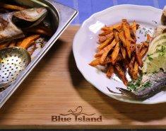 Λαβράκι Blue Island στο φούρνο με τραγανές γλυκοπατάτες - Images