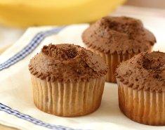 Vegan muffins με μπανάνα και σοκολάτα  - Images