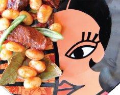 Σαγανάκι παστουρμάς & φασόλια - Images