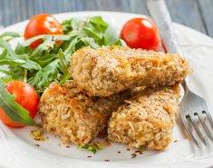 Φιλέτο ψαριού με κρούστα δημητριακών και βρώμης - Images