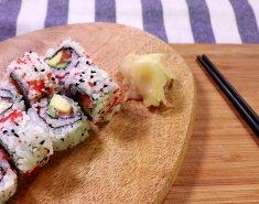 California sushi roll με φρέσκο σολομό Blue Island - Images