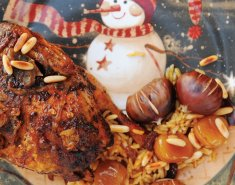 Χριστουγεννιάτικο μικρό κοτοπουλάκι με κάστανα - Images