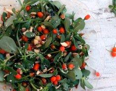 Σαλάτα με αντράκλα και φρέσκα goji berries - Images