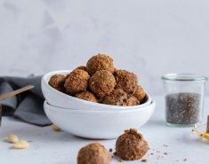 Μπισκοτένια energy balls με ταχίνι, δημητριακά και σοκολάτα - Images