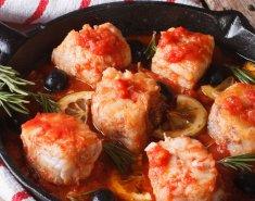 Πέρκα με ντομάτα και σκόρδο  - Images