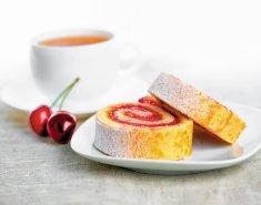 Ρολό µε µαρµελάδα κεράσι  Stute χωρίς επιπρόσθετη ζάχαρη - Images