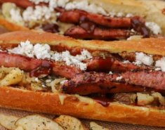 Greek village hot dog - Images