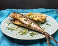 Σκουμπρί στο φούρνο με κόλιανδρο και πατατοσαλάτα  - Images