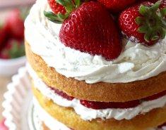 Naked Cake με φράουλες  - Images