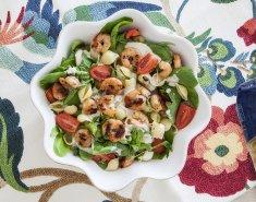 Σαλάτα του Καίσαρα με μακαρόνια και γαρίδες  - Images
