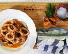 Καλαμαράκια Blue Island σε κόκκινη σάλτσα - Images