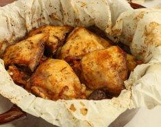 Κοτόπουλο μπούτι στη λαδόκολλα - Images
