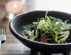 Χταπόδι Foodsaver μαρινάτο στα κάρβουνα, με σαλάτα - Images