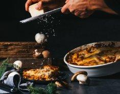 Λαζάνια με κιμά μανιταριών και μοτσαρέλα - Images