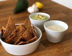 Σπιτικά nachos με 2 υπέροχα vegan dips - Images