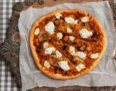 Πίτσα με ρικότα, κατσικίσιο τυρί και λαχανικά - Images