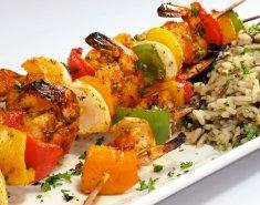 Γαρίδες σουβλάκι με μαρινάδα - Images
