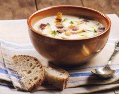 Κρεμώδης σούπα με μπέικον  - Images