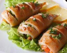 Καλαμάρια γεμιστά με λαχανικά  - Images