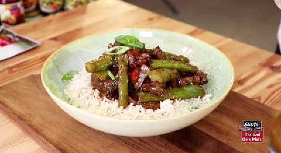 """Βοδινό φιλέτο με Σπαράγγια και Ασιατική Σάλτσα """"Exotic Food Thai steak"""" - Κεντρική Εικόνα"""